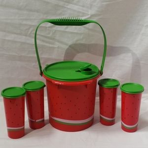 Tupperware Watermelon Drink Set